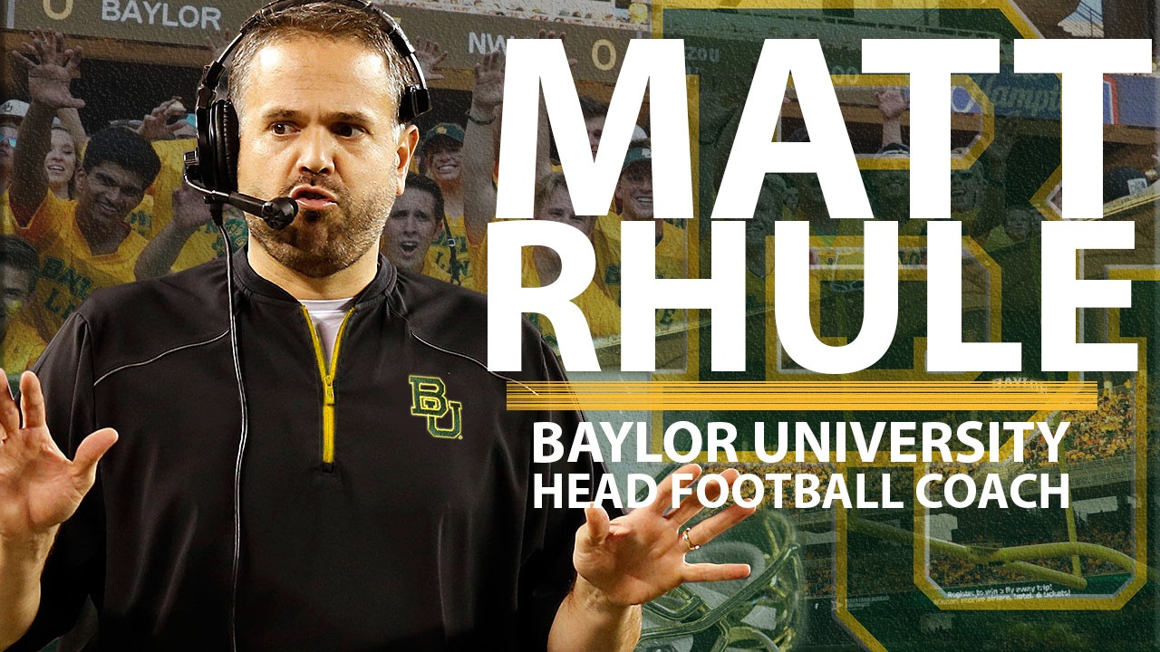 Breaking Matt Rhule To Be Named Baylor S Next Head Coach