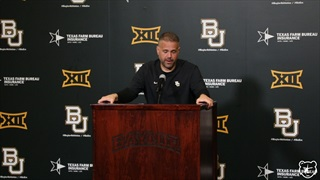 Matt Rhule discusses Baylor's win over Kansas Saturday afternoon