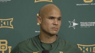 Aranda, Ebner and Pitre meet with media after Baylor's first fall practice
