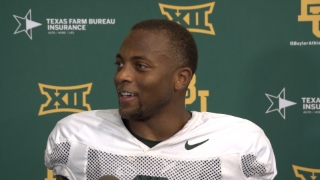 Ben Sims, R.J. Sneed and Tyquan Thornton meet with media after Baylor's practice Tuesday